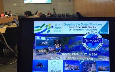 Novembre 2017 – Le GEC Odyssea invité à intervenir lors du Forum « Greening the Ocean Economy » de l'OCDE
