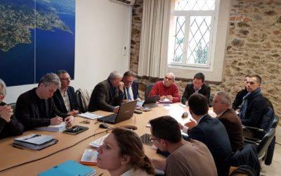 Réunion entre la Ville de Banyuls-sur-Mer, la Région Occitanie, la Caisse des Dépôts et la DDTM des PO, dans le cadre du développement de la Destination Bleue d'Excellence Odyssea Banyuls-sur-Mer
