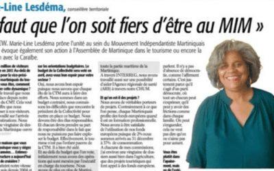 Interview de Marie-Line Lesdéma, Présidente de la Commission des Affaires européennes et coopération de la CTM …
