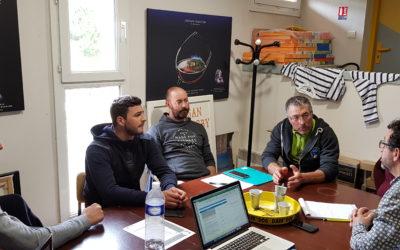 Rencontre entre l'Office de tourisme de Gruissan, les représentants de la Prud'homie de Gruissan et la base conchylicole, la Perle Gruissanaise
