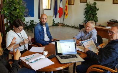 Réunion, avec la Ville de Banyuls-sur-Mer, sur la création de la «Route Bleue® des contrebandiers»