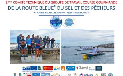 2ème commission du groupe de travail « Course gourmande » de la Route Bleue® du Sel et des Pêcheurs, entre La Palme et Gruissan