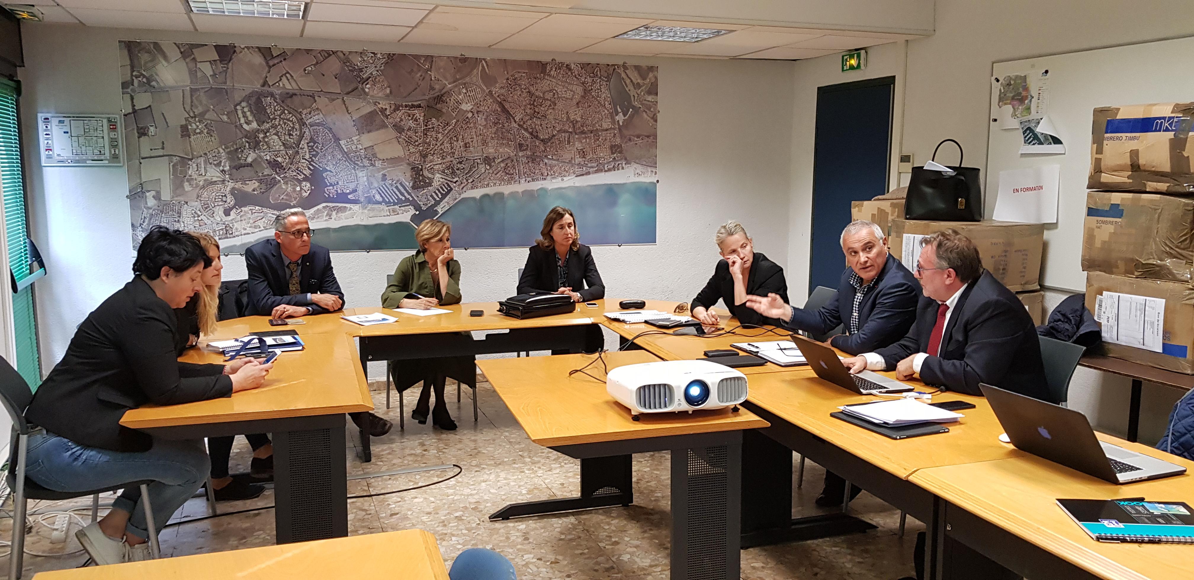 Réunion de travail sur le Grand Stade Bleu Nautique® de Saint-Cyprien / Sud Roussillon