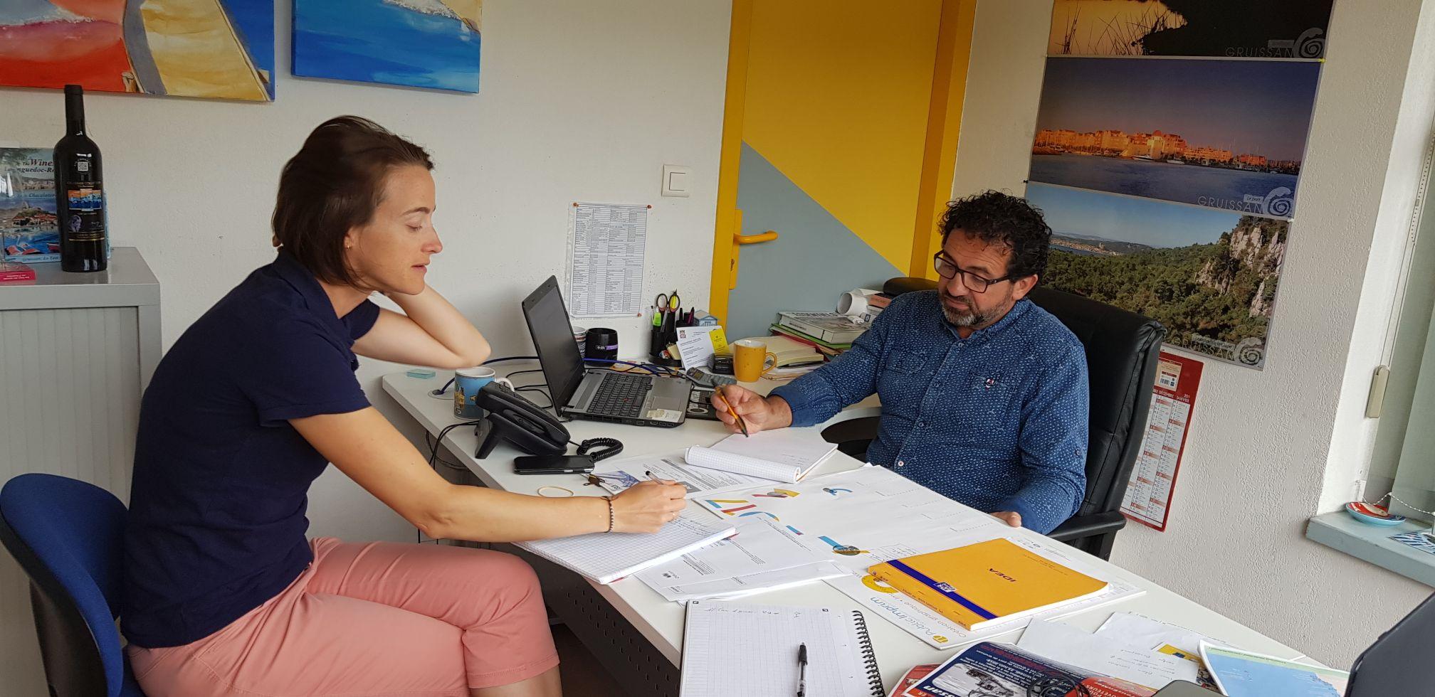 Réunion avec l'Office de Tourisme de Gruissan sur les Croisières Bleues Odyssea