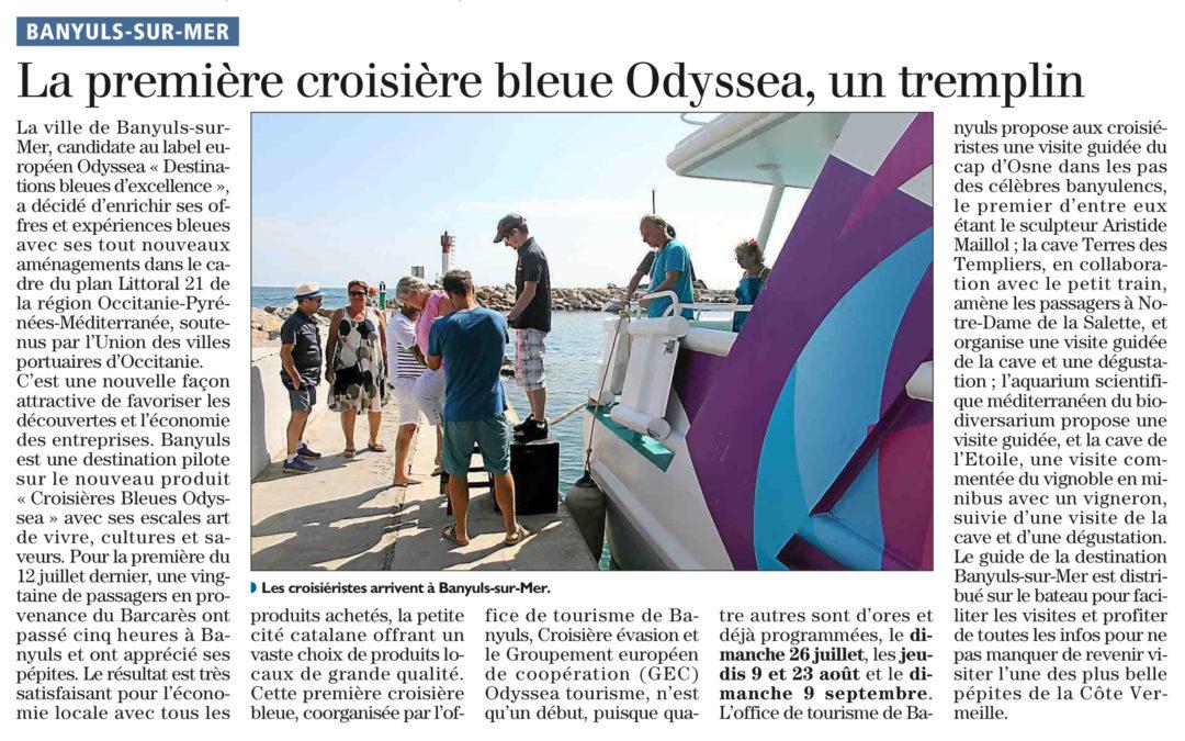 La Croisière Bleue Odyssea® à destination de Banyuls-sur-Mer à l'honneur dans la presse !