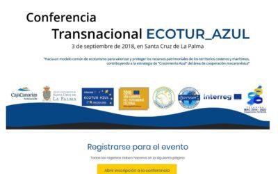Conférence transnationale ECOTUR_AZUL, le 03 septembre 2018, à Santa Cruz de La Palma. A vos inscriptions !