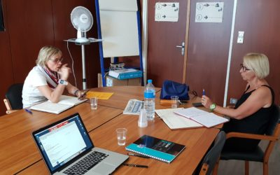 Réunion avec le groupe de presse L'Indépendant sur le Week-end Gourmand de la Route Bleue du Sel et des Pêcheurs®