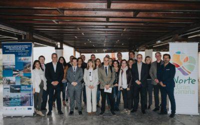 Les partenaires ECOTUR_AZUL réunis pour la Conférence transnationale du projet, à Las Palmas de Gran Canaria