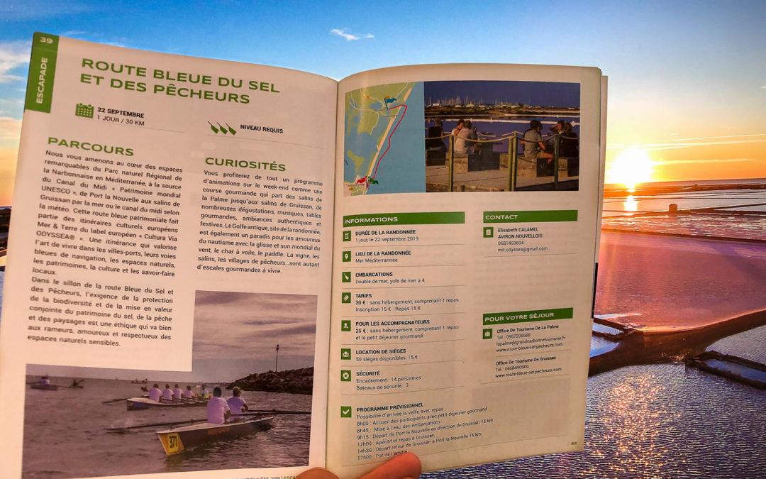 Reconnaissance de la Route Bleue du Sel et des Pêcheurs comme l'une des «plus belles randonnées de France» en Aviron !
