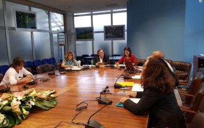 Réunion autour de la Croissance bleue Odyssea, avec les services instructeurs de la Région île de La Réunion et du programme Interreg Océan Indien