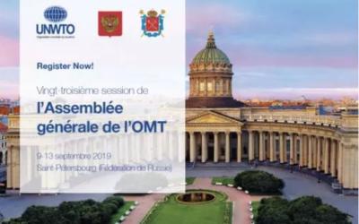 Odyssea a siégé à l'AG de l'Organisation Mondiale du Tourisme, à Saint-Pétersbourg