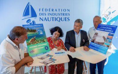 Signature d'un partenariat entre la Fédération des Industries Nautiques et Odyssea pour une croissance-bleue-durable
