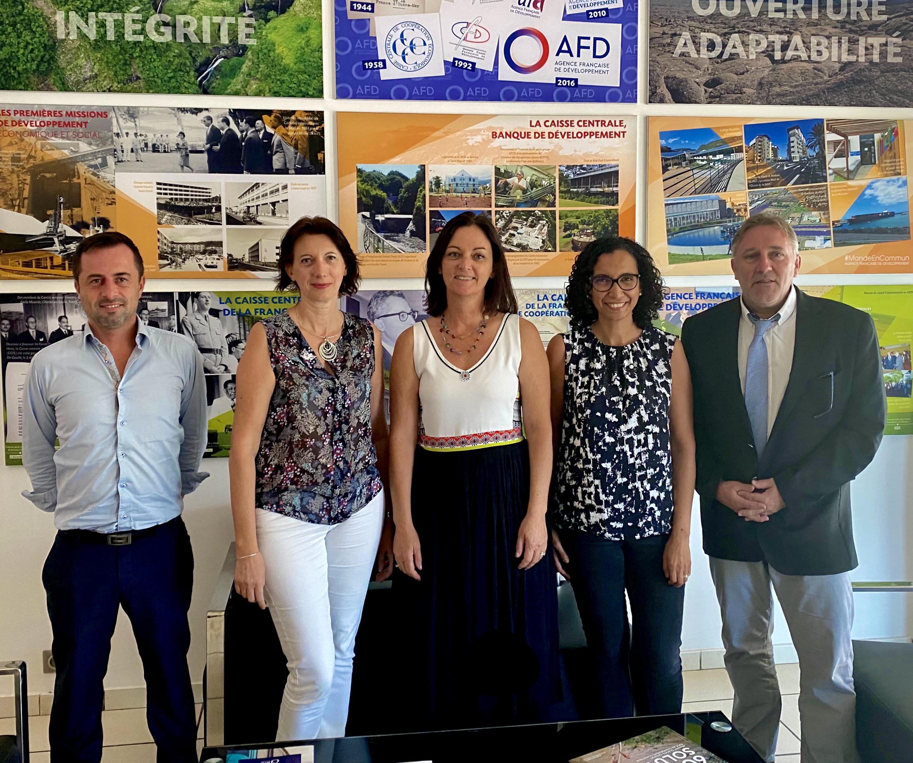 Réunion avec l'Agence Française de Développement pour présenter les projets structurants Odyssea du Territoire de la Côte Ouest