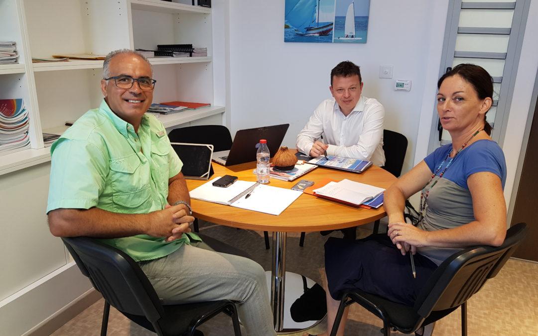 Réunion entre la FIN, le Territoire de la Côte Ouest (La Réunion) et le Groupement Odyssea, sur les projets structurants d'économie bleue du TCO, dans les innovations du label européen Odyssea®