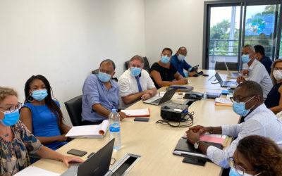 Rencontre à Petit-Bourg avec Monsieur le Maire Guy Losbar et ses équipes