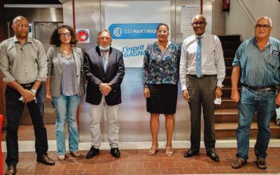 Rencontre avec le Président de la CCI de Martinique, pour une présentation du Pôle Territorial de Coopération économique durable