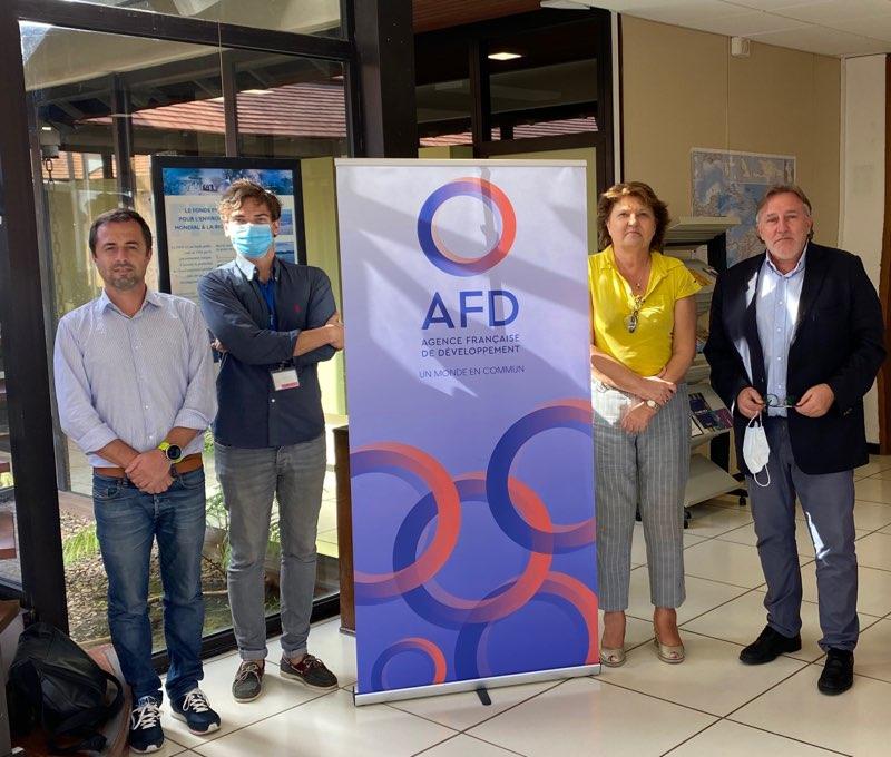 Réunion avec l'Agence Française de Développement en Guyane