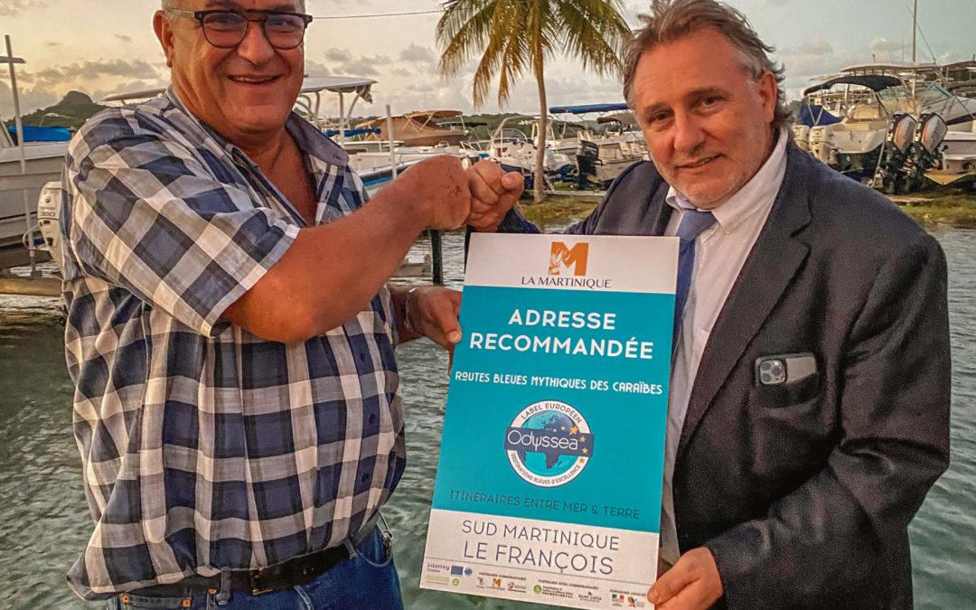 Remise des plaques «Marina exemplaire d'exception» et «Adresse recommandée» à la Marina du François