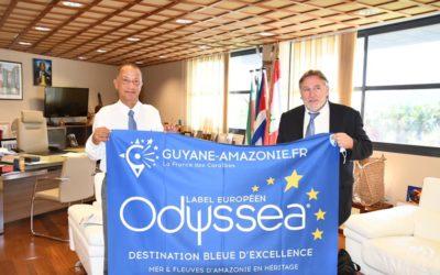Rencontre avec le Président de la Collectivité Territoriale de Guyane, Rodolphe Alexandre, autour d'une Guyane Bleue et Verte durable et inclusive