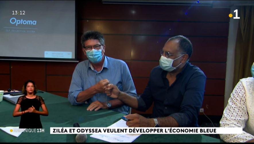 La coopération  Ziléa / Odyssea pour le développement de l'économie bleue et du tourisme durable en Martinique au JT de 13 heures de Martinique la 1ère !