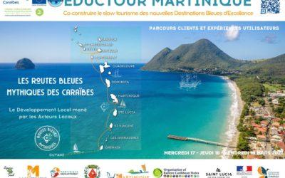 Jour J pour l'éductour des Routes Bleues® Mythiques de la Martinique et des Caraïbes, pour une façon innovante et durable de découvrir la Martinique  !