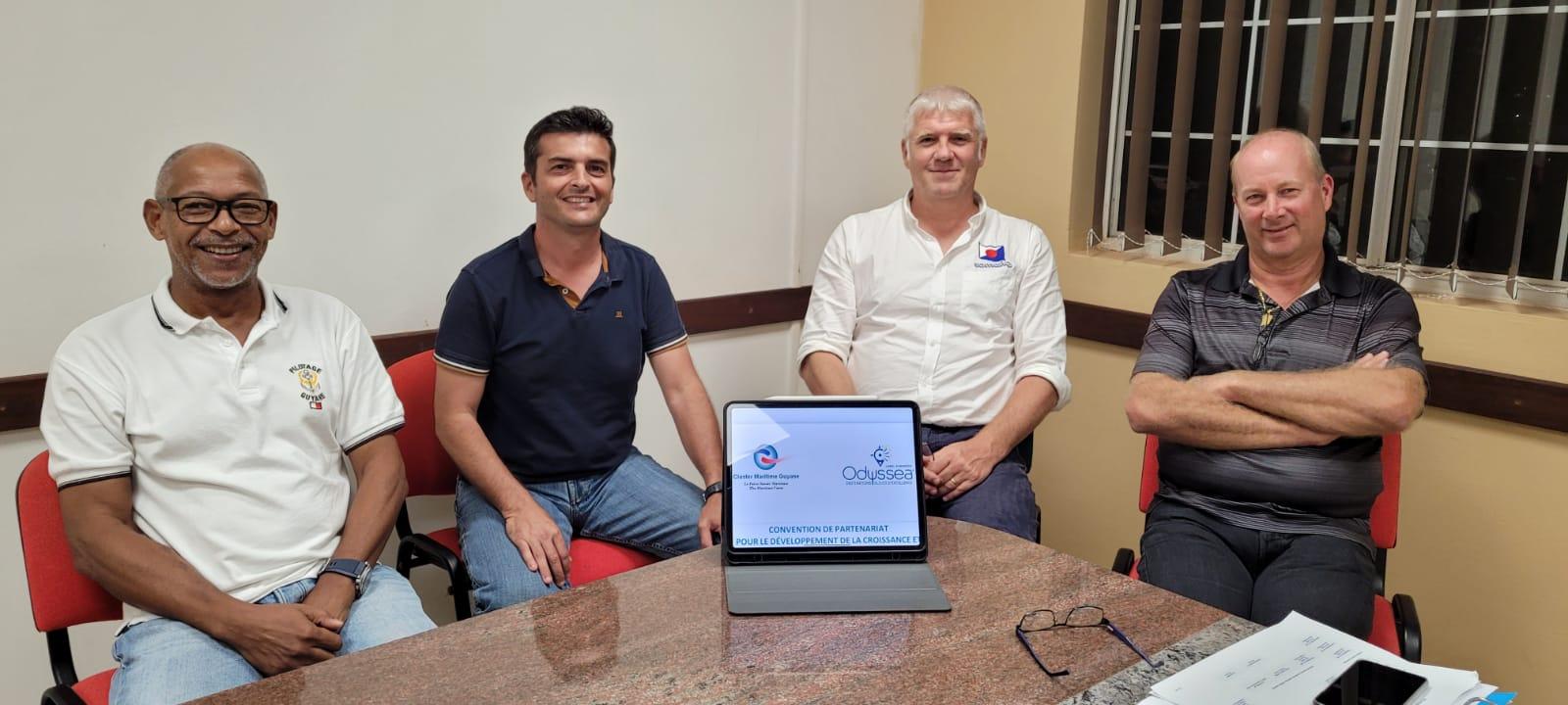 Le Cluster Maritime Guyane s'unit à la Scic GE Odyssea pour une relance de l'économie bleue, au profit de ses membres