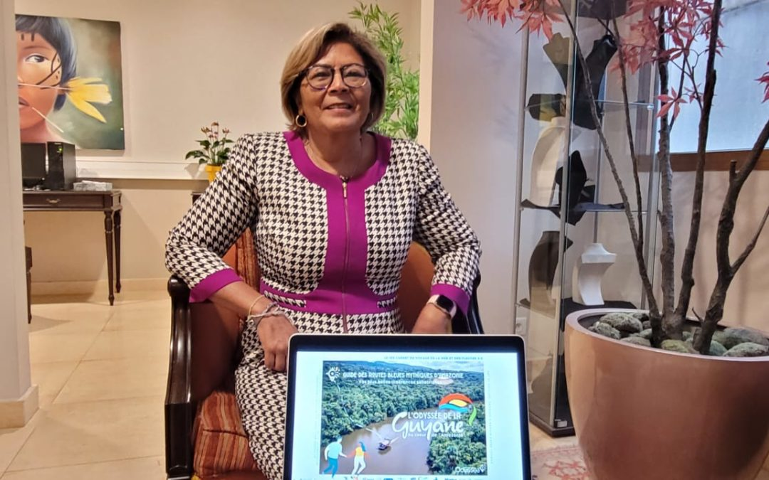 Présentation à Madame la Sénatrice de Guyane, Vice-Présidente de l'ANEL, de la stratégie «Guyane 2030, une Destination Bleue et Verte d'Excellence, durable et inclusive»