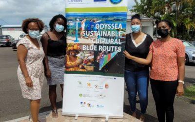 Sainte-Lucie, l'Espace Sud Martinique et la délégation Odyssea  se réunissent autour de la promesse Mer expérientielle et sensorielle des Routes Bleues