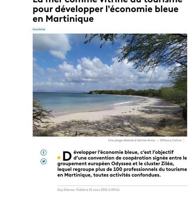 La presse en parle : la coopération  Ziléa / Odyssea pour le développement de l'économie bleue et du tourisme durable en Martinique !
